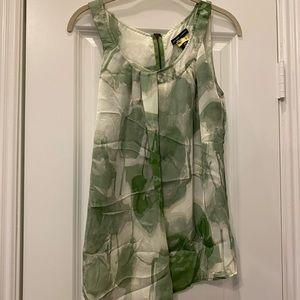 NY&Co Green and Ivory Blouse